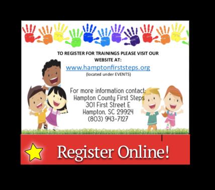 Register online for upcoming trainings
