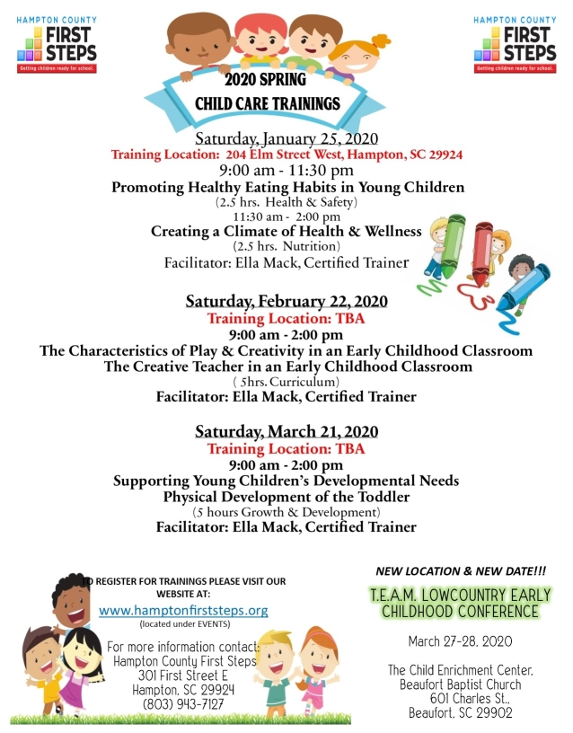 FY20 Child Care Training Workshops